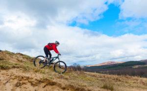 Bike on hill